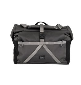 Brompton Roll Top L, dark grey, with frame