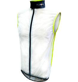 Funkier Evo WV-1510 Windbreaker Gillet in Clear/Yellow - Medium