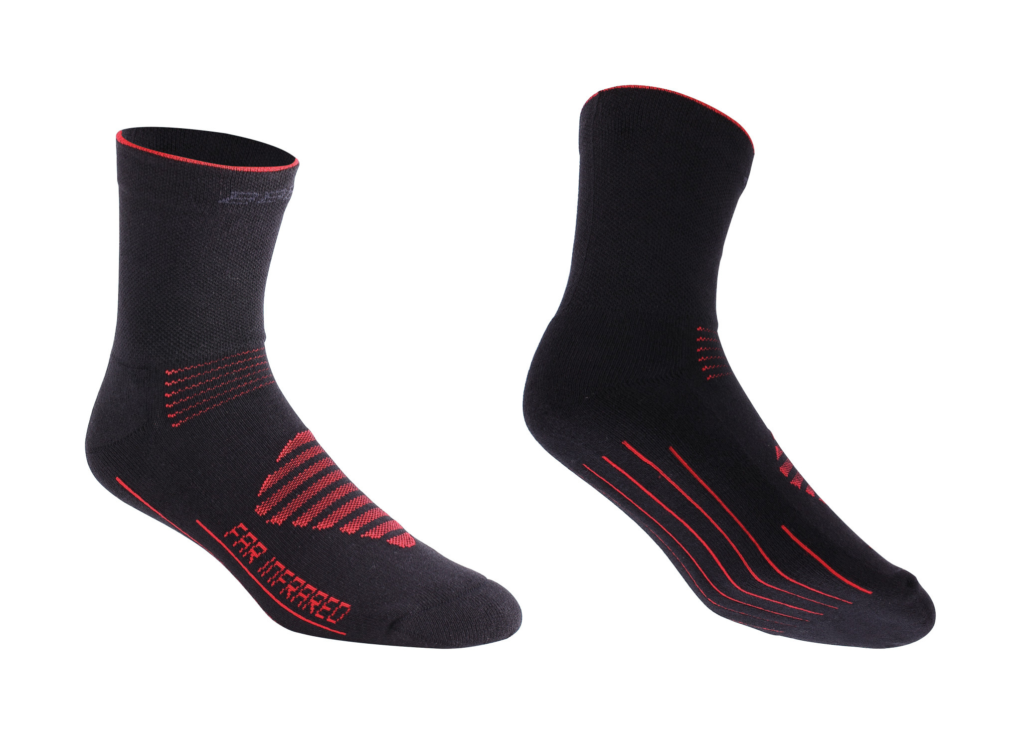 BBB BSO-16 - FIRFeet Socks (Black & Red)