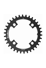 SunRace Narrow-Wide 96BCD Steel Chainring in Black