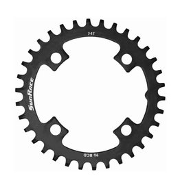 Sunrace SunRace Narrow-Wide 96BCD Steel Chainring in Black