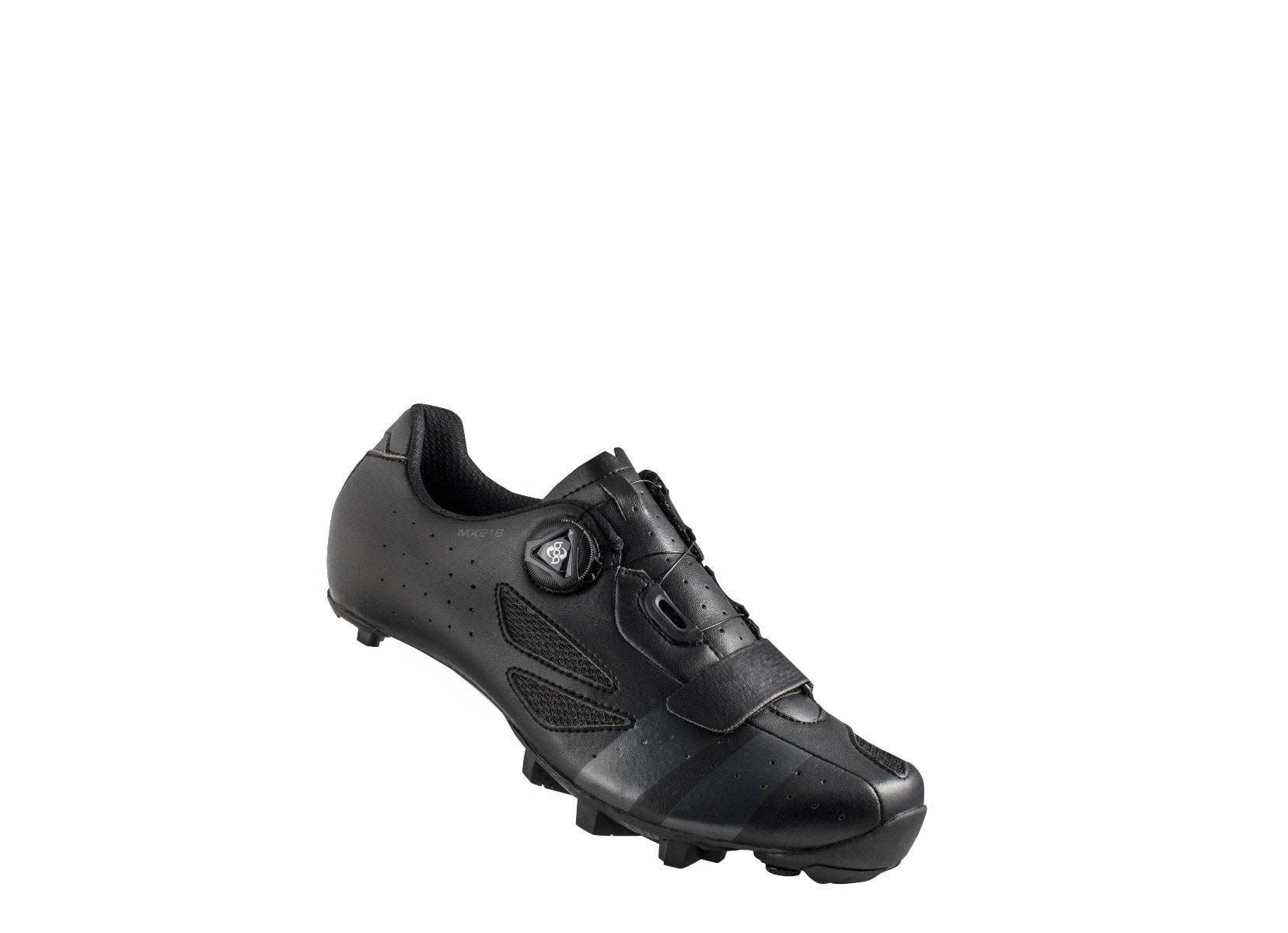 LAKE Lake MX218-X Carbon MTB Shoe Wide Fit Black/Grey 42.5