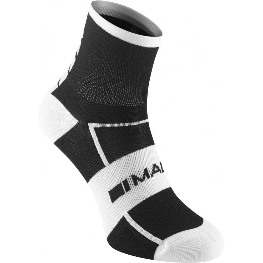 Madison Sportive Men's Mid Sock Twin Pack, Black / White Small