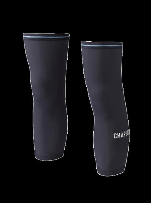 Chapeau! Chapeau!, Mens Knee Warmers, Wordmark, Black, S/M