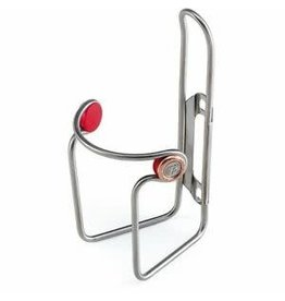 Elite Ciussi Inox bottle cage - tubular stainless steel Stainless Steel 74 mm diametre