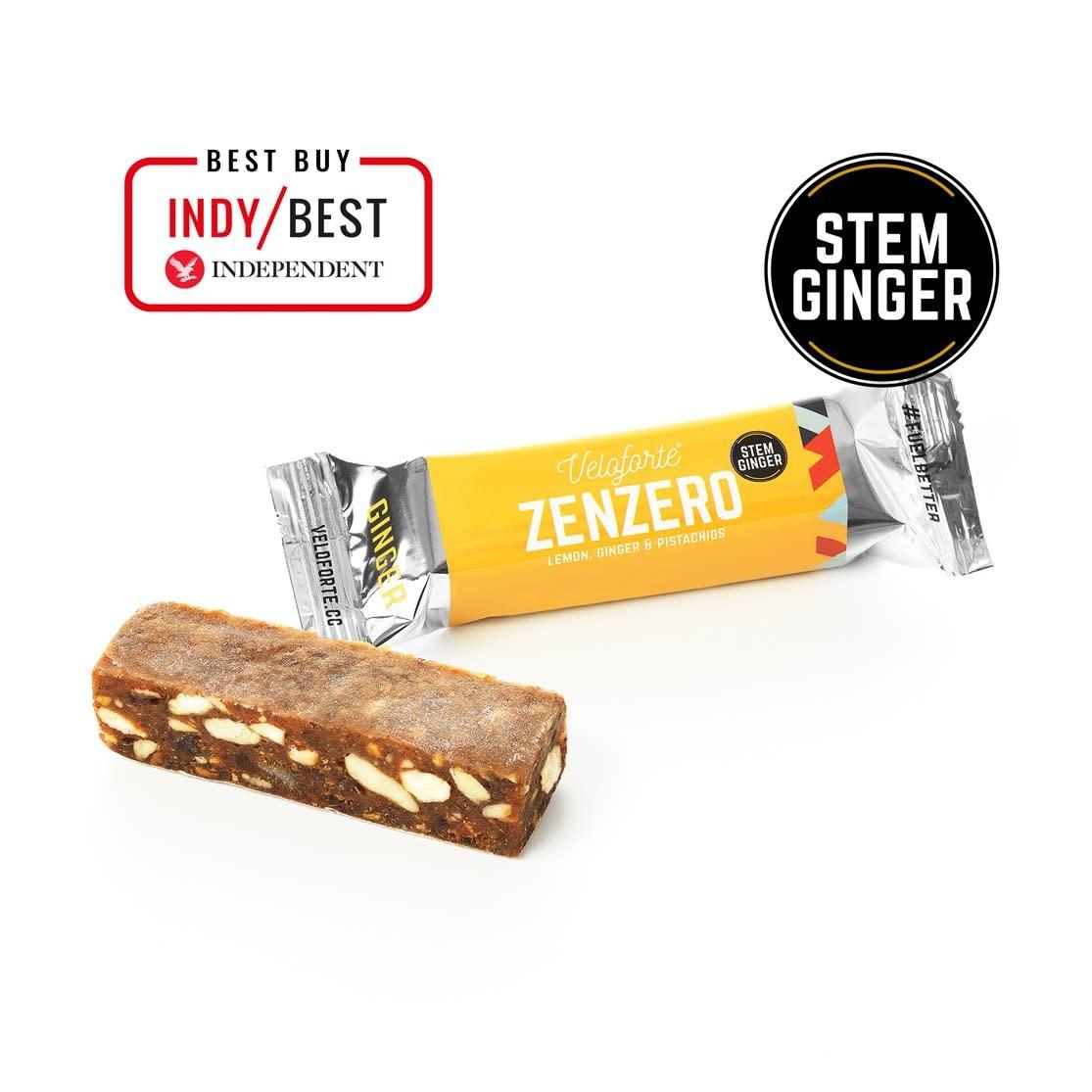 veloforte Veloforte Zenzero Lemon, Ginger & Pistachios Bar 70g