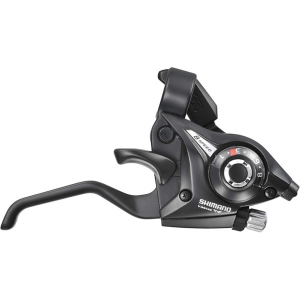 ST-EF510 EZ fire plus STI set, 2-finger lever, 3 x 8-speed, black