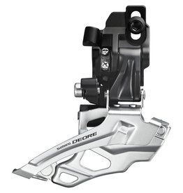 FD-M616 Deore 10-speed double front derailleur, top-pull, direct-fit, black Black 10-speed direct mount