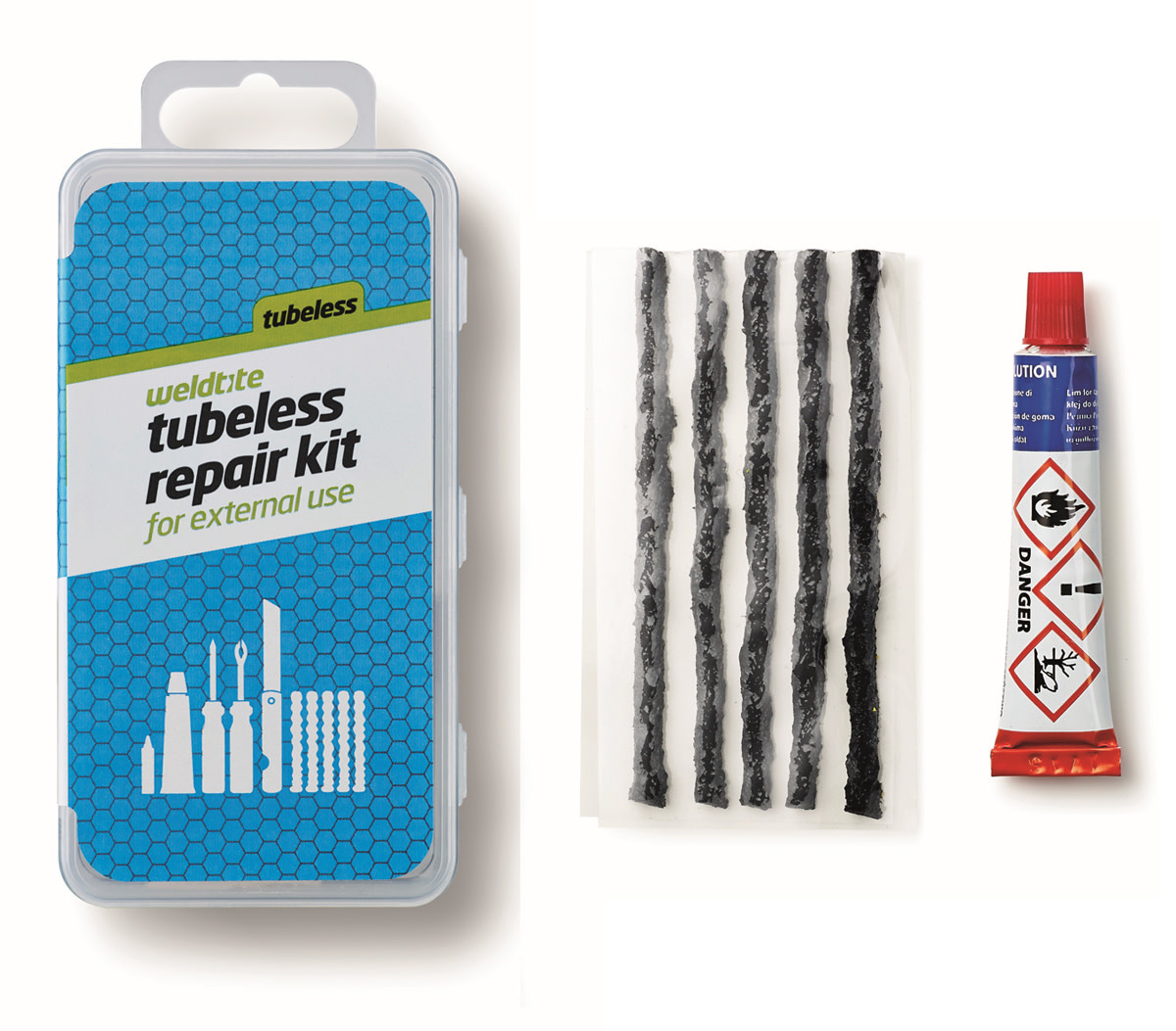 Weldtite Tubeless External Repair Strings with Solution