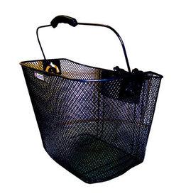 Adie Mesh Basket in Black, Includes Snap Fit Bracket