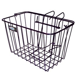 Front Wire Basket with Holder Plastic coated Wire Basket inc. Holder (Suit most bicycle types) Black