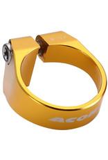 Acor CNC Alloy Bolt Seat Post Clamp: Gold 31.8mm