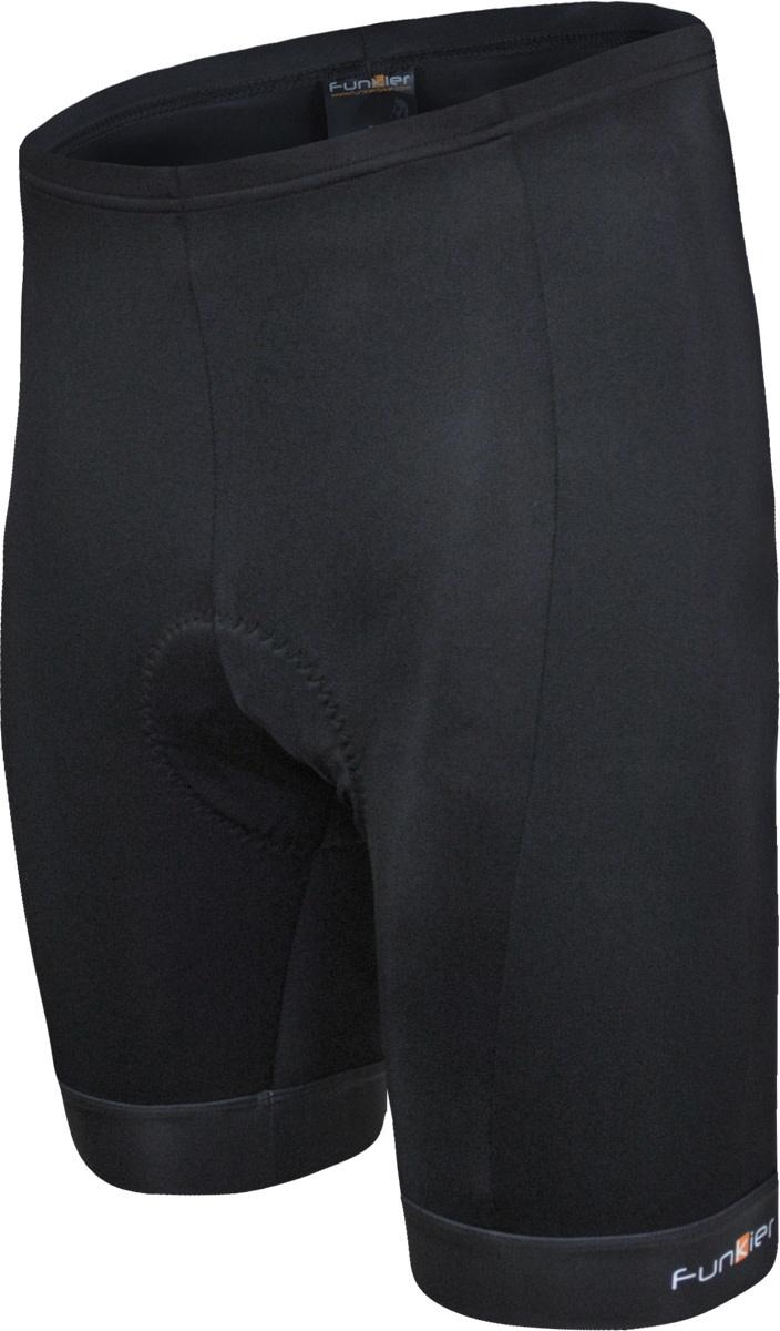 Funkier unkier F-77 - 7 Panel 4-Way Stretch Shorts (B1 Pad) in Black (M)