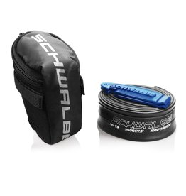 "Schwalbe Saddle Bag with Tube and Tyre Levers: 28"" SV17"