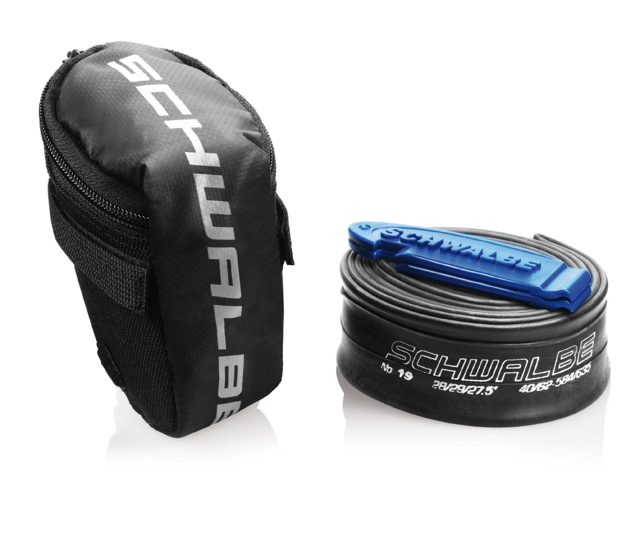 """Schwalbe Saddle Bag with Tube and Tyre Levers: 28"""" SV17"""