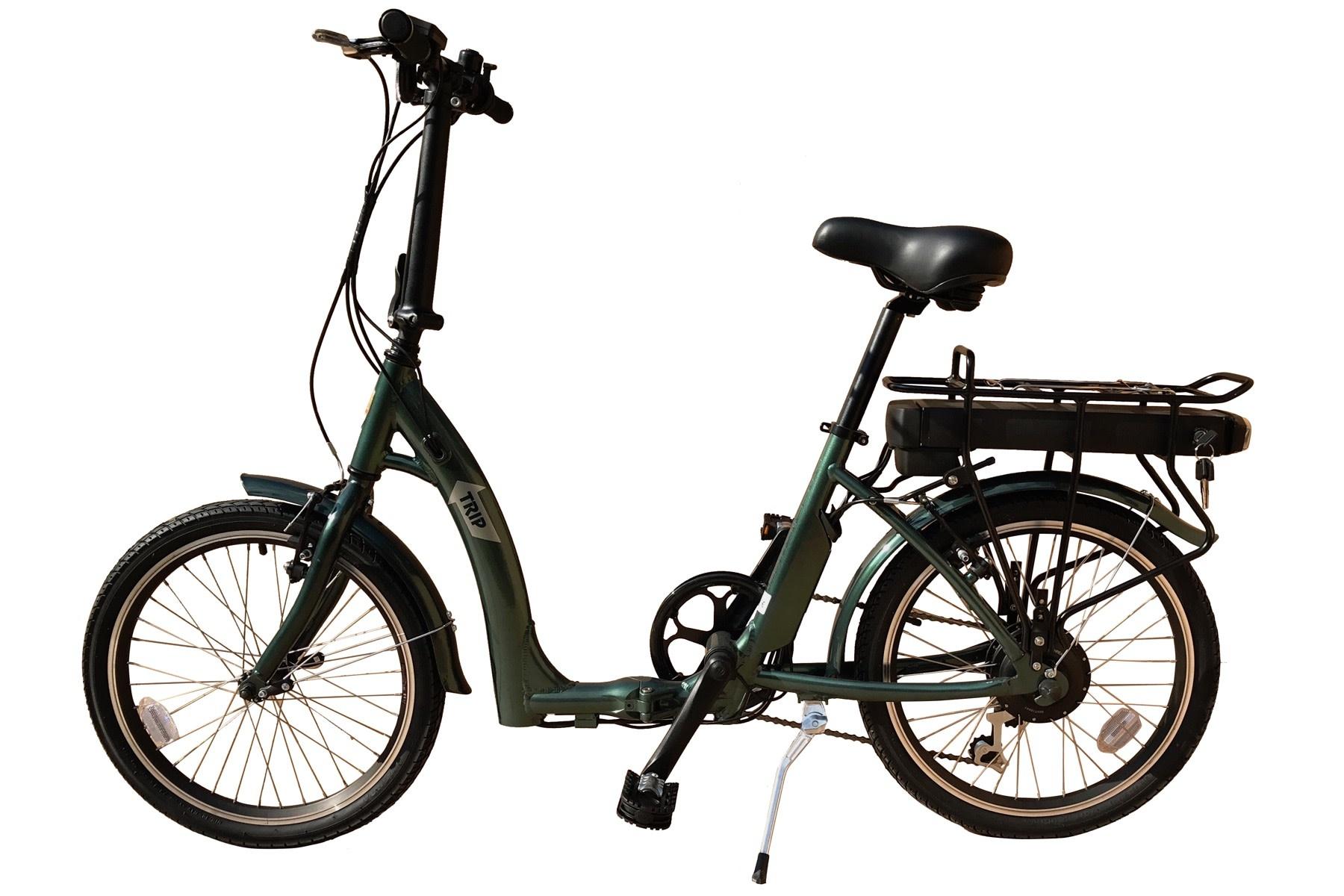 "BatriBike BatriBike Trip Folding eBike 20"" wheel - 8.8 AH Battery - Green"