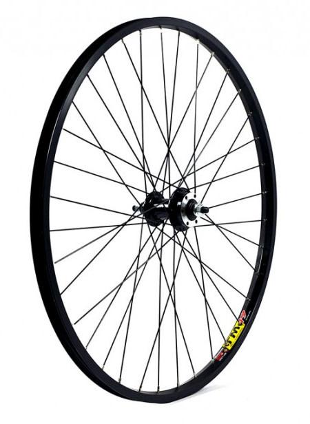 """KX wheels KX MTB 26"""" Singlewall Solid Axle Wheel Rim Brake (Front) Black"""