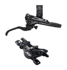 Shimano BR-M8100/BL-M8100 XT bled brake lever/post mount calliper, front right
