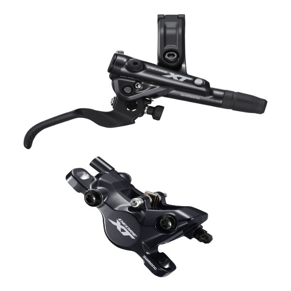 Shimano BR-M8100/BL-M8100 XT bled brake lever/post mount calliper, front right