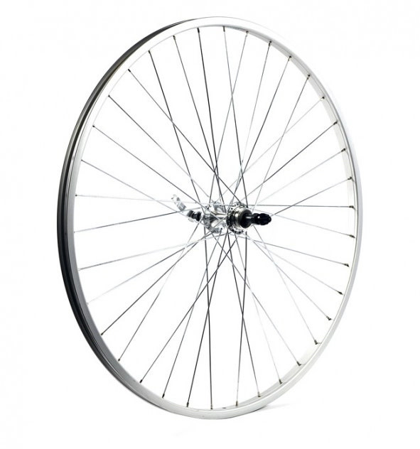 "KX wheels KX Road 27 x 1 1/4"" Singlewall Q/R Screw On Wheel Rim Brake in Silver (Rear)"