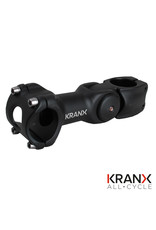 Kranx KranX 31.8mm Alloy Adjustable A/Head Stem in Black. Size: 110mm