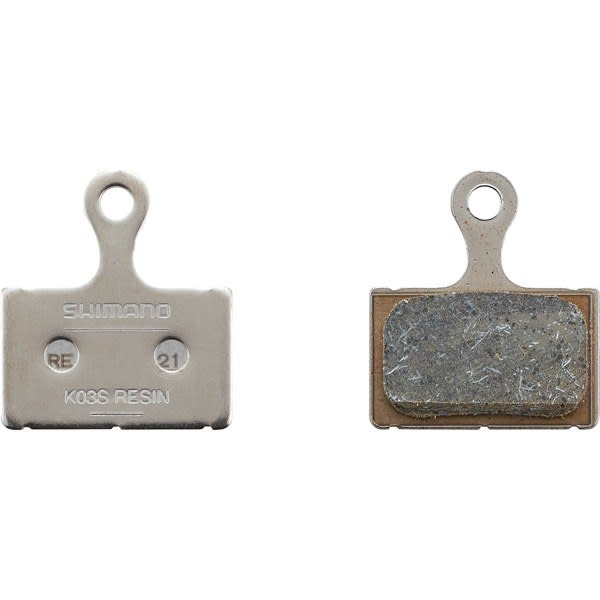K03S disc brake pads and spring, steel backed, resin