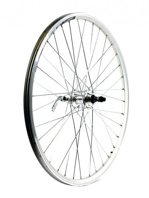 "KX wheels KX MTB 26"" Singlewall Q/R Screw On Wheel Rim Brake (Rear) - Silver"