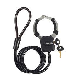 MASTER LOCK X1 STREET CUFF + CABLE BLACK 8MM X 1M KEY