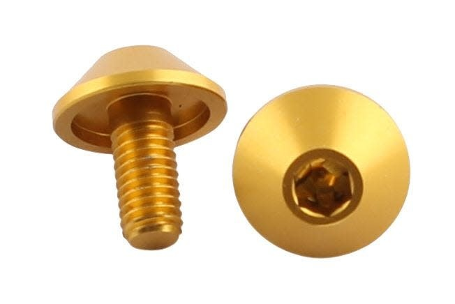 One23 M5 x 15mm Alloy Bolt x4 Gold
