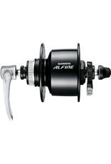 DH-S501 Alfine, 6v 3w, Centre-Lock disc, 36h, Q/R, black Black 36 hole