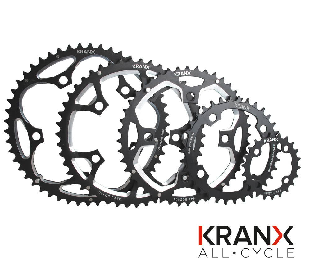 KranX 130BCD Alloy Chainring in Silver - 38T Pressed