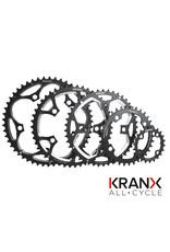 KranX 130BCD Alloy Chainring in Black - 39T Pressed