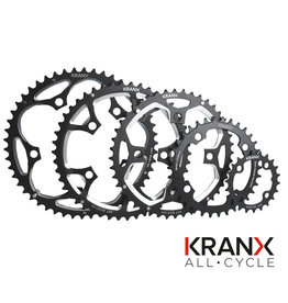 KranX 130BCD Alloy Chainring in Black - 39T Pressed