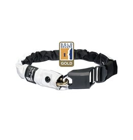 HIPLOK GOLD WEARABLE CHAIN LOCK 10MM X 85CM - WAIST 24-44 INCHES (GOLD SOLD SECURE) HIGH VISIBILITY: HI-VIZ 10MM X 85CM