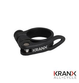 KranX Alloy Q/R Seat Clamp in Black - 28.6mm