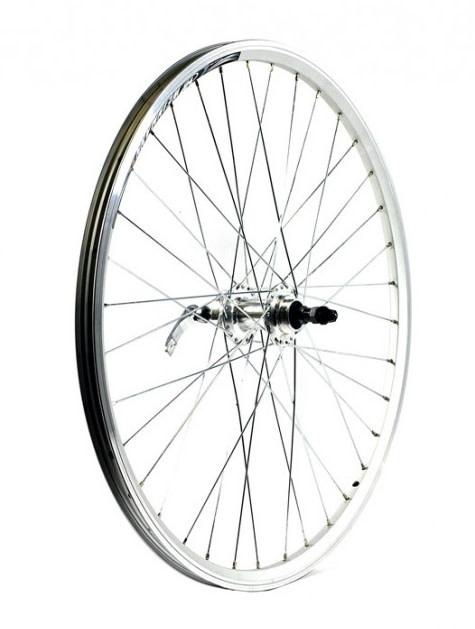 "KX wheels KX MTB 26"" Doublewall Q/R Screw On Wheel Rim Brake (Rear) - Silver"