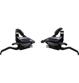 ST-EF500 EZ fire plus STI set, 2-finger lever, 3 x 7-speed, black Black 7-speed