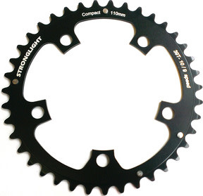 Stronglight 110PCD Type S - 5083 Series 5-Arm Road Black Chainrings 34T-36T - 38T