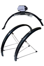 Stronglight 26'' - 60mm ATB Section Guards. S-version with Fixed Bridges - Stainless Steel Safe Clip - Black