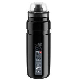 Elite FLY MTB H2O BOTTLE BLACK W/GREY LOGO 750ml