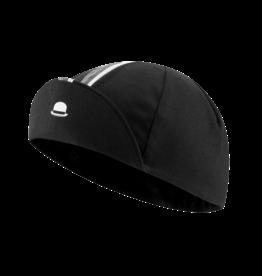 Chapeau! Chapeau!, Mens Cotton Cap Striped Grosgrain, Black, M/L