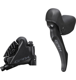 Shimano BL-RX600 GRX hydraulic disc brake lever bled with BR-RX400 calliper, left rear