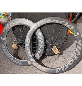 Vittoria Vittoria Qurano 84 tub rim brake carbon wheel and 60 deep front