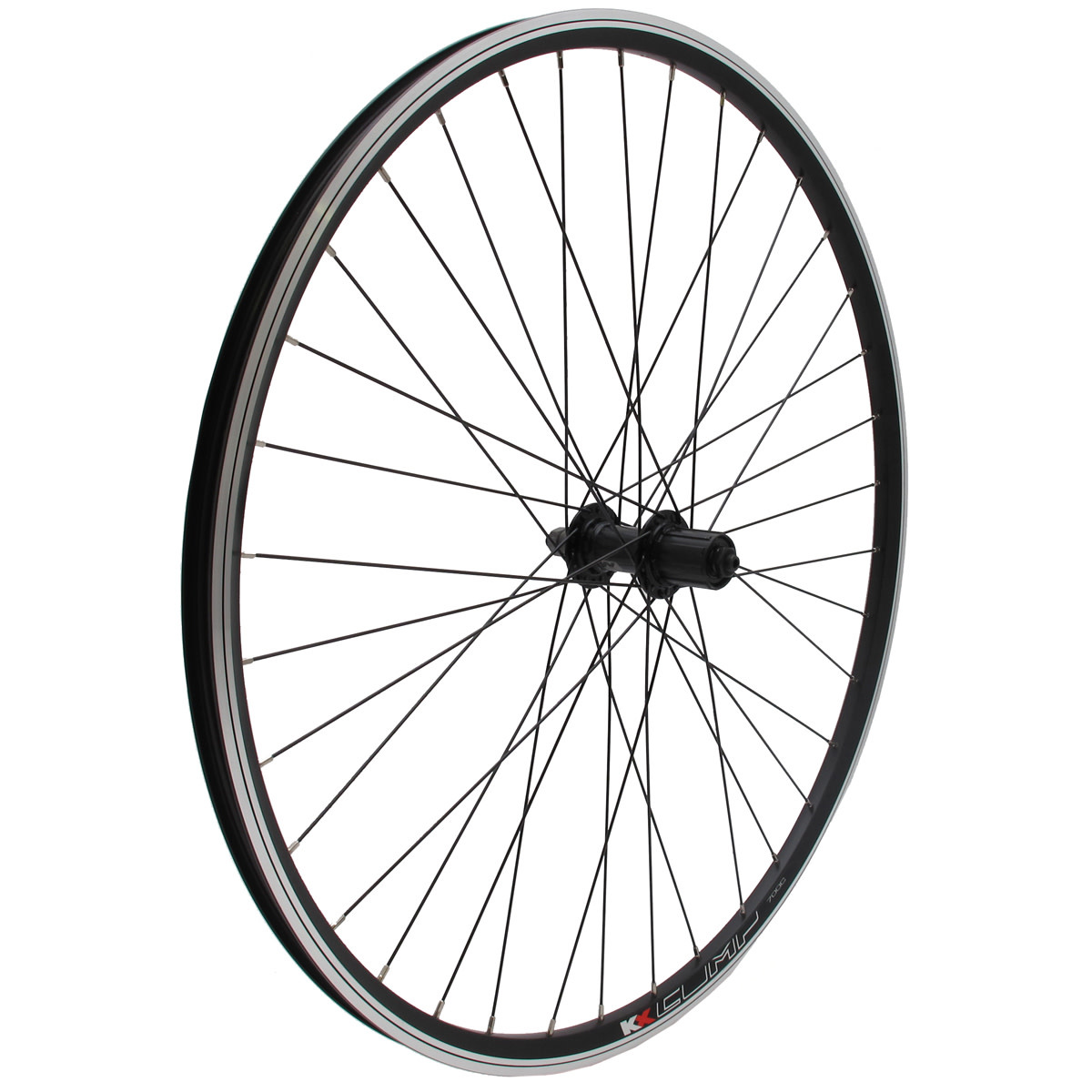KX wheels KX Hybrid 700C Singlewall Q/R Screw On Wheel Rim Brake (Rear) - Black