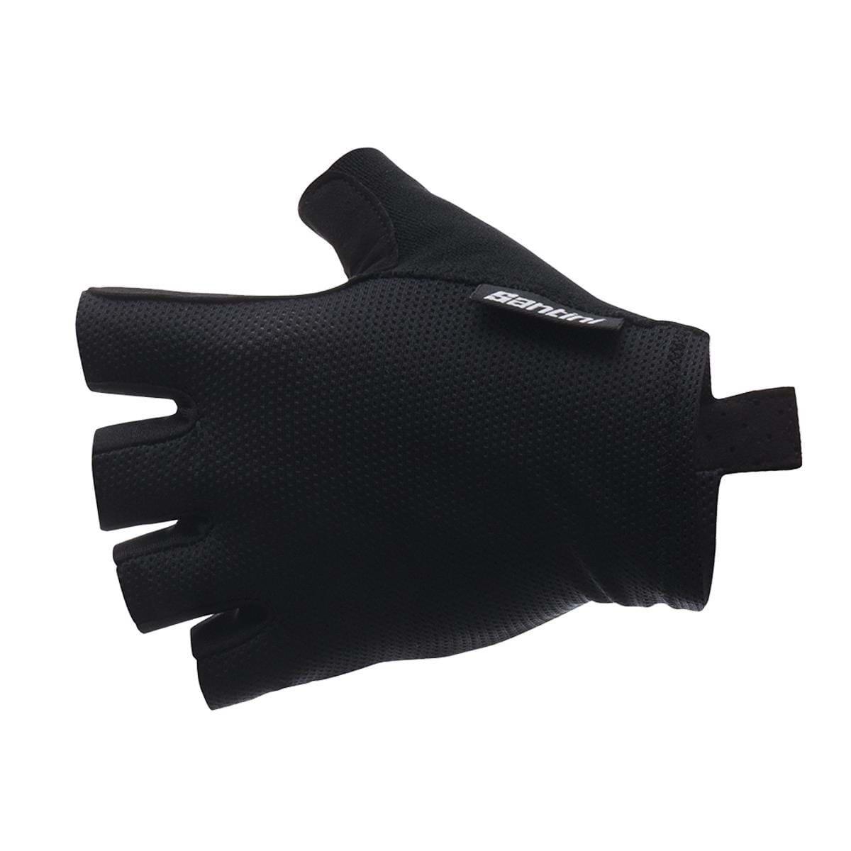 Santini SANTINI 365 BRISK SHORT FINGER GLOVE: BLACK XL