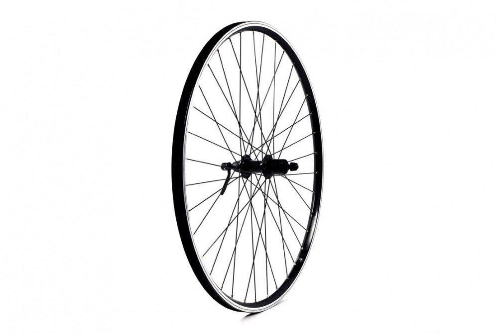 ETC Rear Wheel Hybrid/City 700C Alloy Double Wall Black Hybrid Cassette Quick Release