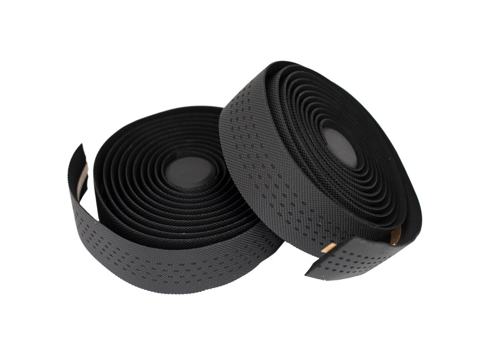 KranX Stretta Primo-High Grip Anti-Shock Handlebar Tape BLACK