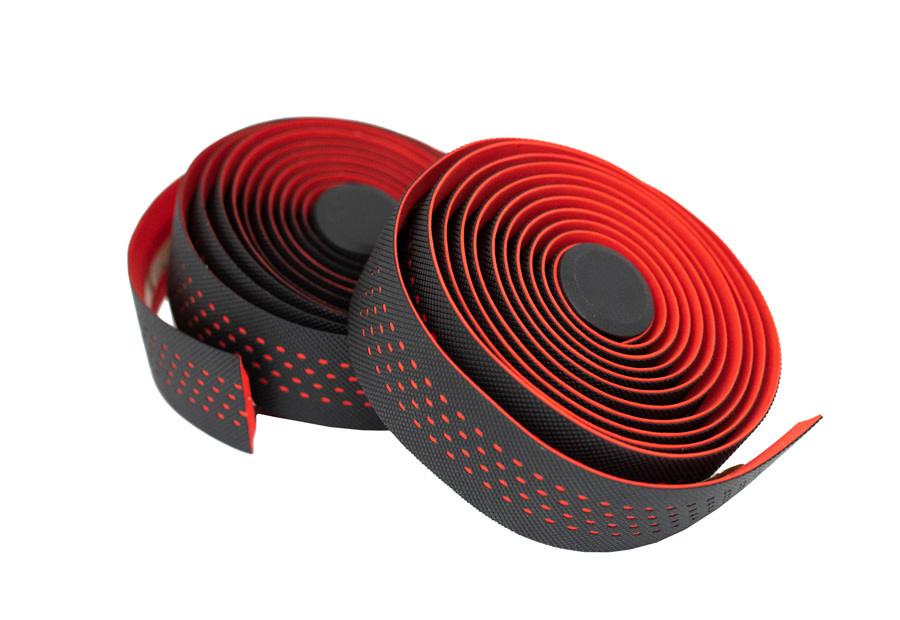 KranX Stretta Primo-High Grip Anti-Shock Handlebar Tape RED