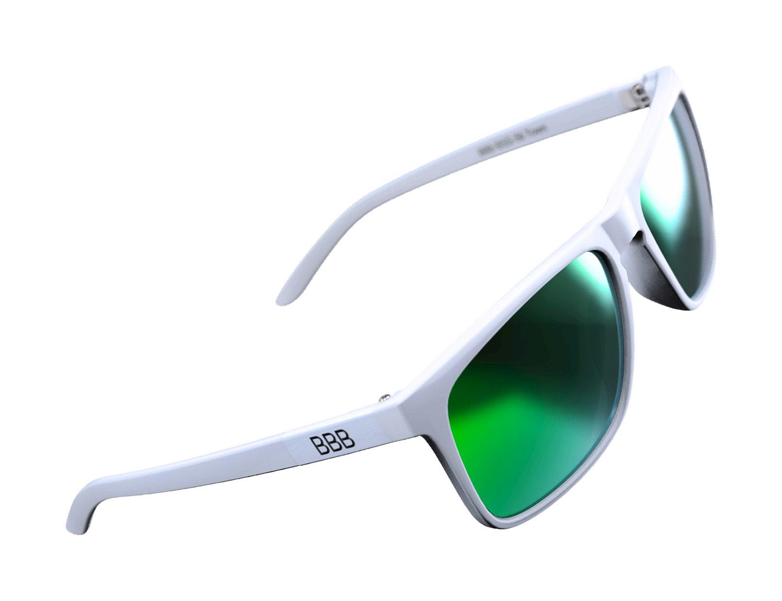 BBB BSG-56 - Town Polarized Sunglasses (White, Green Lenses)