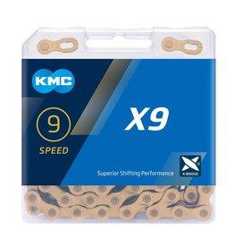 KMC X9 Ti-N Gold Chain 114L